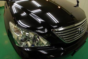 トヨタ ハリアー ガラスコーティング、車磨き