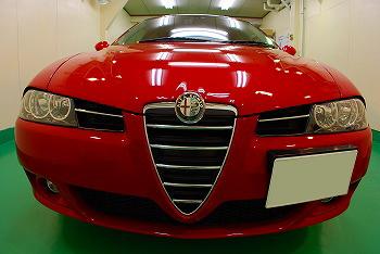 アルファロメオ 156 スポーツワゴン ガラスコーティング