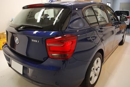 BMW 116i Sport ボディ・ウィンド・ホイールコーティング 福岡市S様